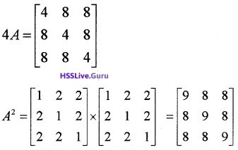Plus Two Maths Matrices 3 Mark Questions and Answers 34