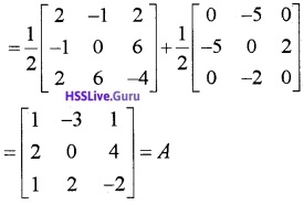 Plus Two Maths Matrices 3 Mark Questions and Answers 40