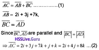 Plus Two Maths Vector Algebra 3 Mark Questions and Answers 53