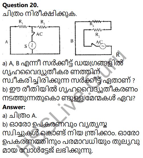 Kerala SSLC Physics Model Question Paper 4 Malayalam Medium 18