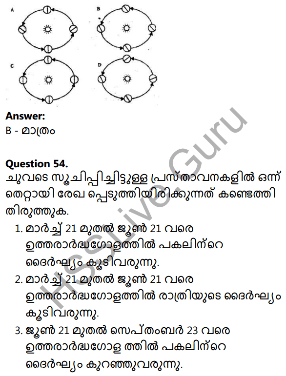 Kerala Syllabus 10th Standard Social Science Solutions Chapter 1 Seasons and Time in Malayalam 36