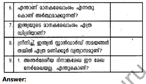 Kerala Syllabus 10th Standard Social Science Solutions Chapter 1 Seasons and Time in Malayalam 45