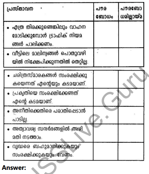 Kerala Syllabus 10th Standard Social Science Solutions Chapter 10 Civic Consciousness in Malayalam 9