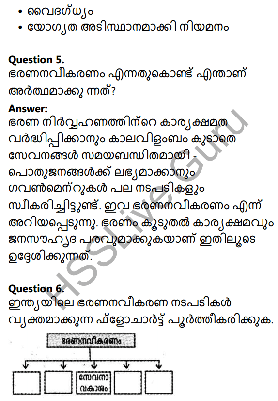 Kerala Syllabus 10th Standard Social Science Solutions Chapter 3 Public Administration in Malayalam 4