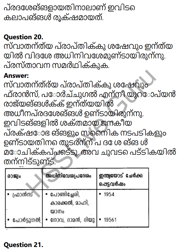Kerala Syllabus 10th Standard Social Science Solutions Chapter 7 India after Independence 19