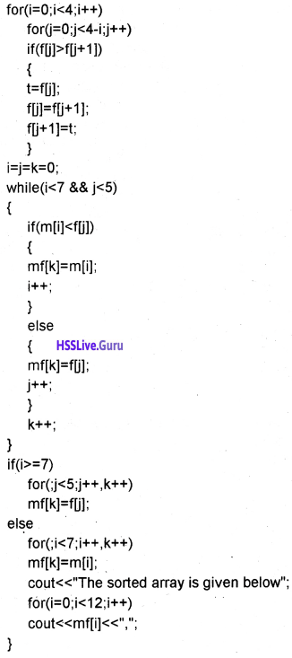 Plus One Computer Science Chapter Wise Questions and Answers Chapter 8 Arrays 12