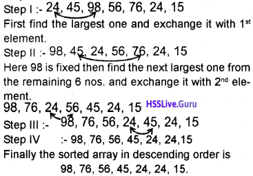 Plus One Computer Science Chapter Wise Questions and Answers Chapter 8 Arrays 27