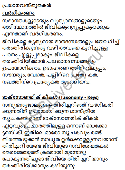 Kerala Syllabus 8th Standard Basic Science Solutions Chapter 12 Why Classification in Malayalam 1