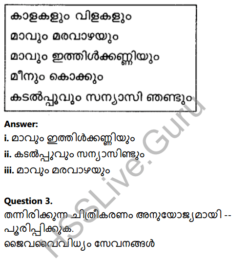 Kerala Syllabus 8th Standard Basic Science Solutions Chapter 13 Diversity for Sustenance in Malayalam 11