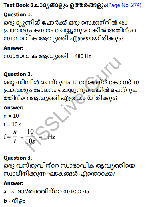 Kerala Syllabus 8th Standard Basic Science Solutions Chapter 19 Sound in Malayalam 1