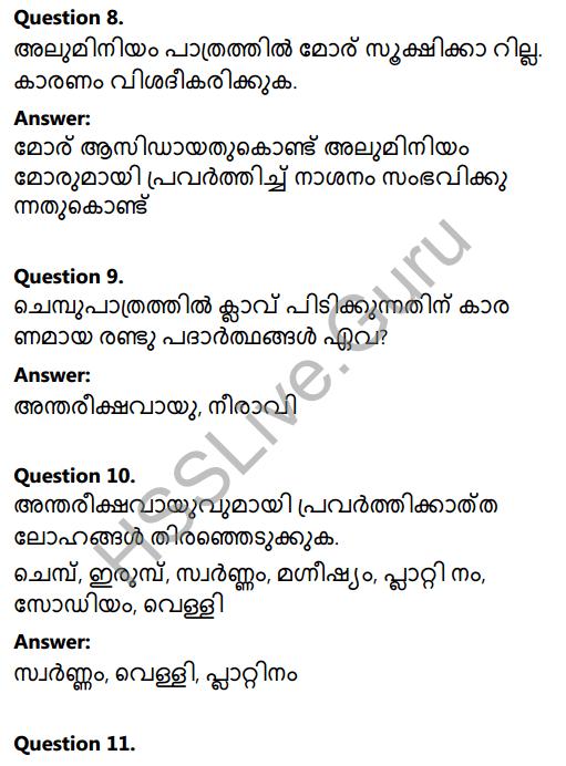 Kerala Syllabus 8th Standard Basic Science Solutions Chapter 7 Metals in Malayalam 12