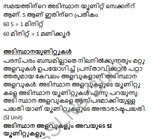 Kerala Syllabus 8th Standard Basic Science Solutions Chapter 8 Measurements and Units in Malayalam 20