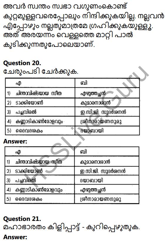Plus Two Malayalam Textbook Answers Unit 1 Chapter 1 Kannadi Kanmolavum 8