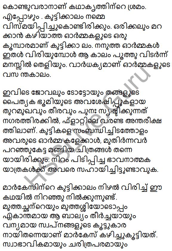 Plus Two Malayalam Textbook Answers Unit 1 Chapter 2 Prakasam Jalam Pole Anu 34