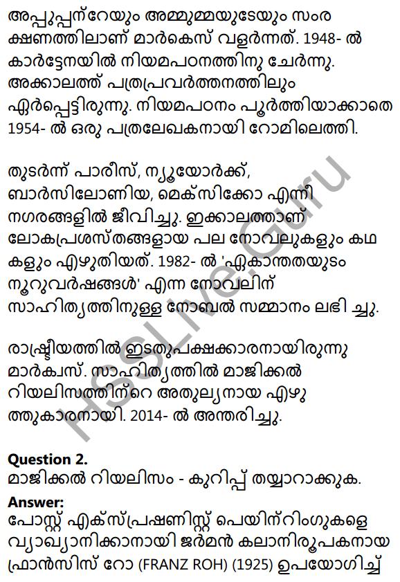 Plus Two Malayalam Textbook Answers Unit 1 Chapter 2 Prakasam Jalam Pole Anu 7