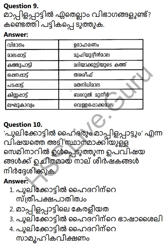 Plus Two Malayalam Textbook Answers Unit 2 Chapter 4 Mappilappattile Keraleeyatha 3