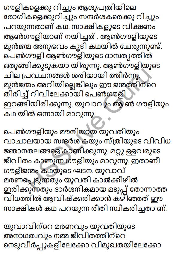 Plus Two Malayalam Textbook Answers Unit 3 Chapter 2 Gauli Janmam 30