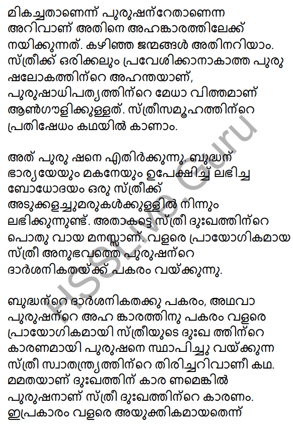 Plus Two Malayalam Textbook Answers Unit 3 Chapter 2 Gauli Janmam 65