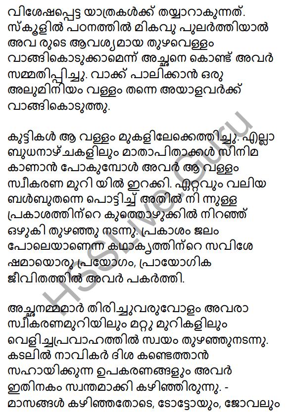 Prakasam Jalam Pole Anu Summary 5