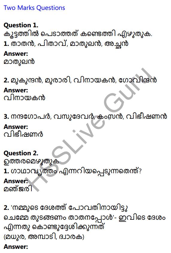 Plus One Malayalam Textbook Answers Unit 4 Chapter 1 Peeli Kannukal 1
