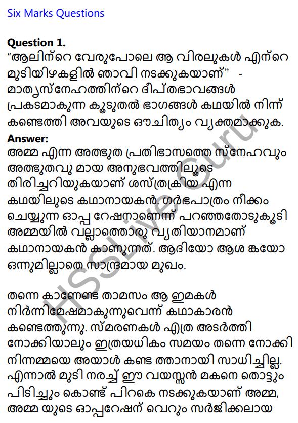 Plus One Malayalam Textbook Answers Unit 4 Chapter 6 Shasthrakriya 1