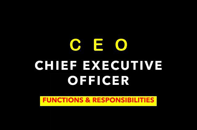 functions of a CEO