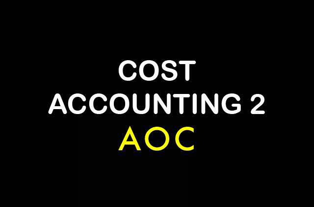 COST ACCOUNTING 2