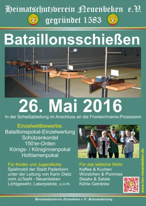 Plakat Bataillonsschiessen