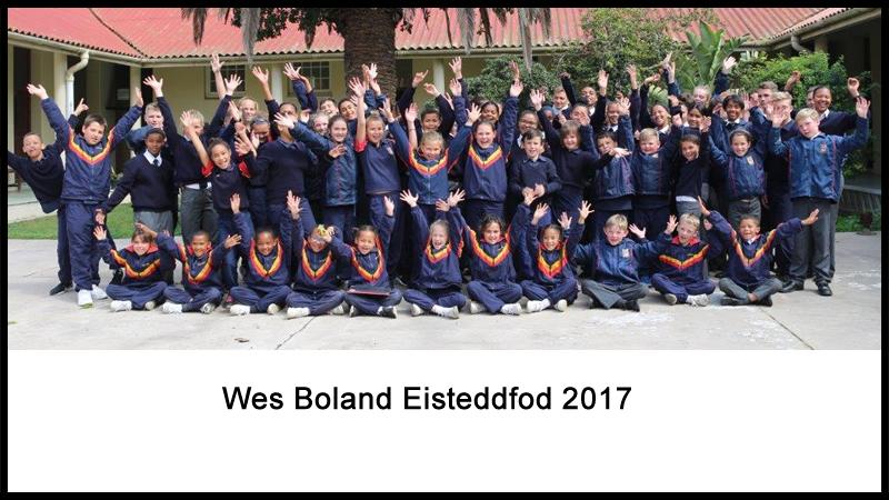 Wes Boland Eisteddfod 2017