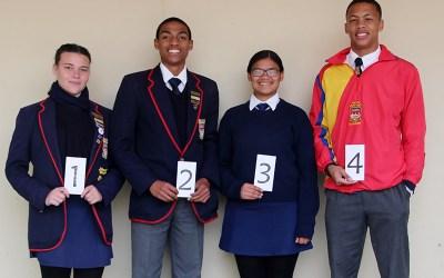 Top 5 leerlinge in elke Graad vir die 2de Kwartaal 2019