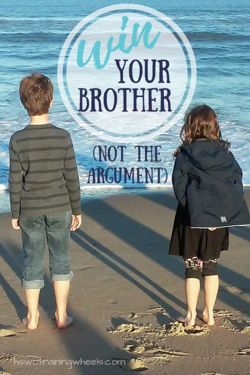 """When siblings talk about disagreements, is their goal to win the argument? Or to win their brother! See what it means to be """"win""""-some!"""