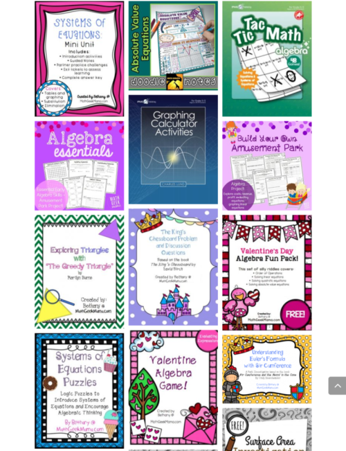 There are lots of places to find math printables online. If you have the time to search. Math Geek Mama has tons, all in one place, all quality resources!