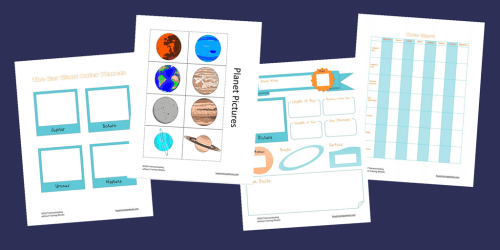 This adaptable printable pack allows you to study the planets easily in your multi-age homeschool. Cut and paste and other options for all learners!