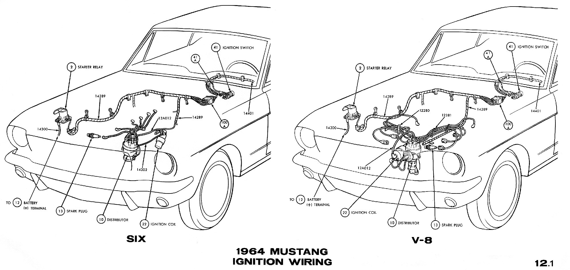 hight resolution of 1964 mustang ignition wiring