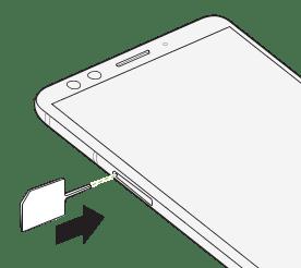 Inserting the nano SIM and microSD cards