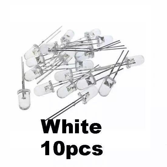 10pcs white transparent led light hte bd