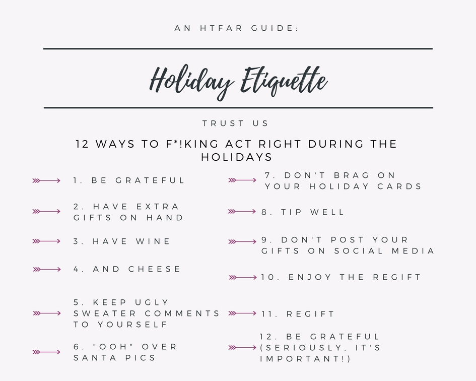 Top 12 Rules of Holiday Etiquette