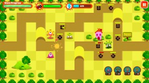 Monster Tower Defense green squares