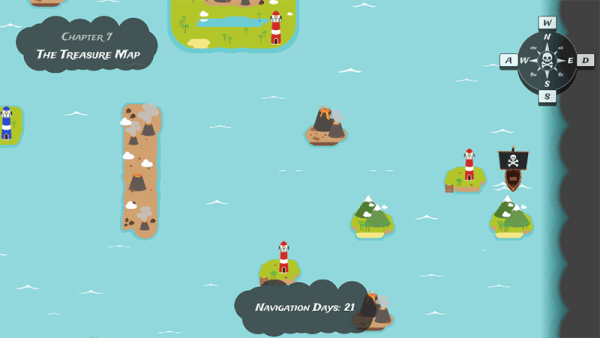 Piratescape HTML5 Gameplay