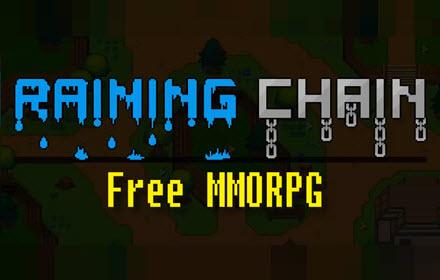 Raining chain free HTML5 MMORPG title banner