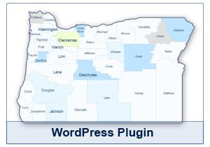 Interactive Map of Oregon - WordPress Plugin