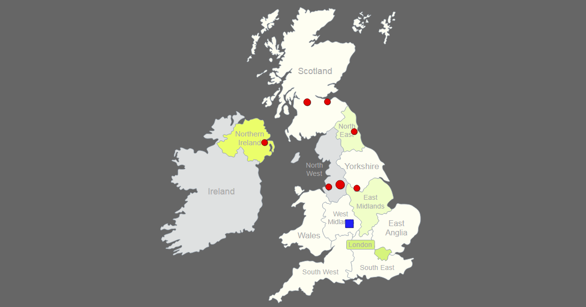 Scotland Map South East