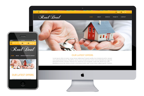 realdeal free responsive html5 css3 templates