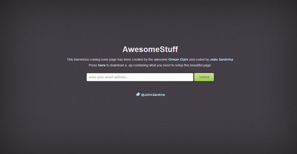 Coming Soon Splash Page CSS3 templates