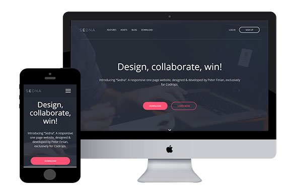 Sedna free responsive html5 template