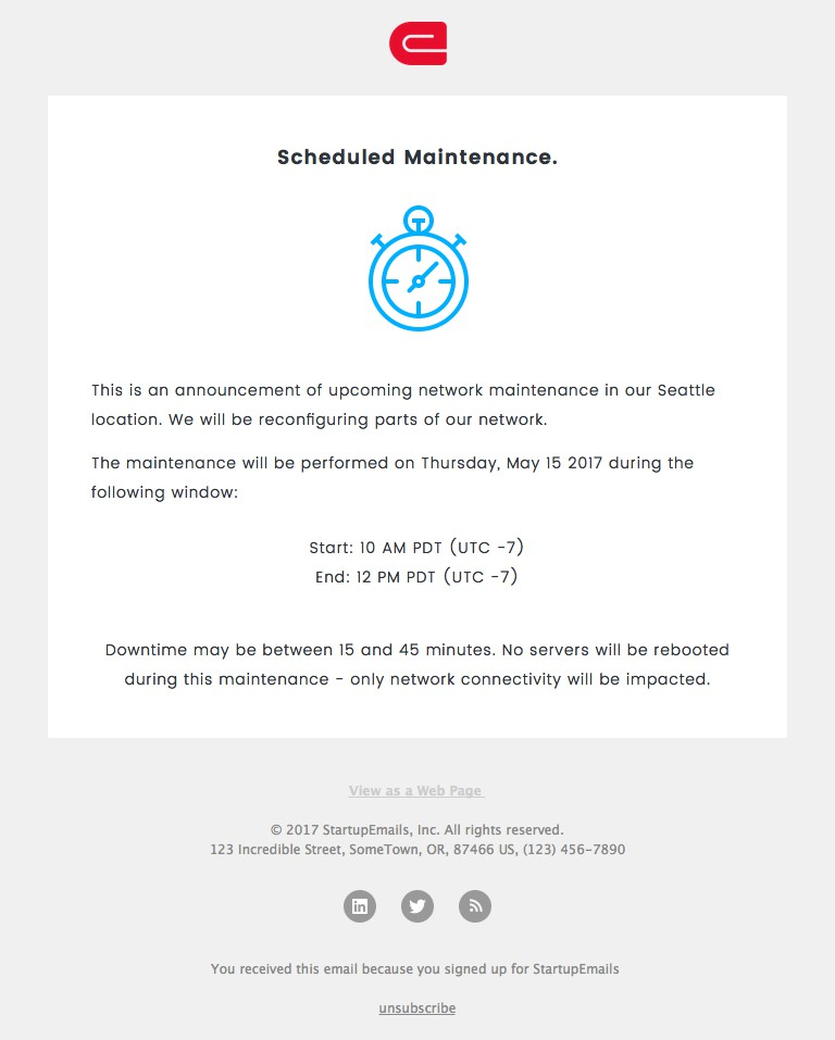 Your emergency response during these times needs to be. Maintenance Responsive Html Email Template