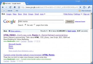 Google site links