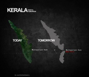 Kerala after and Before Mullaperiyar Dam collapse