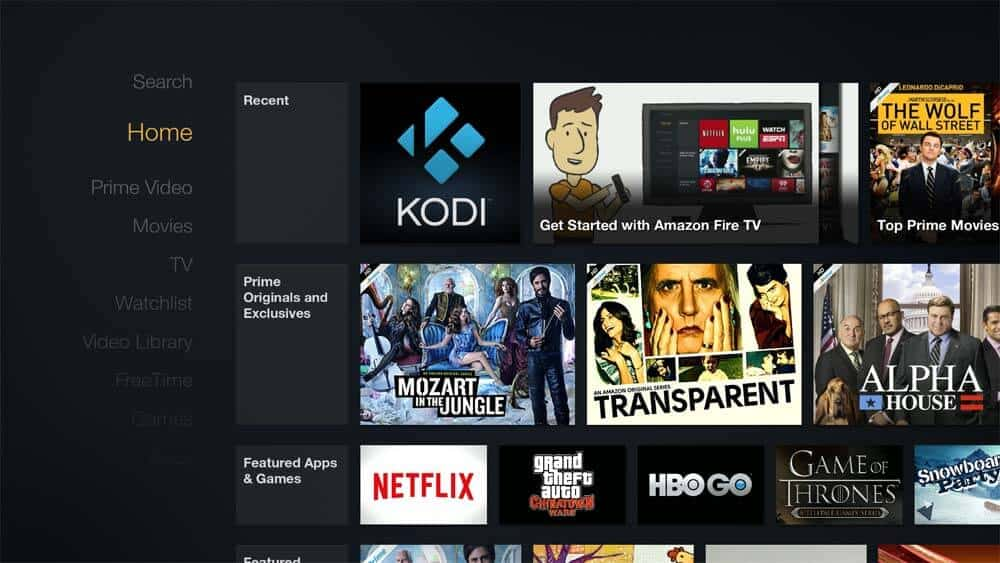 Create Kodi shortcut on Amazon Fire TV home screen