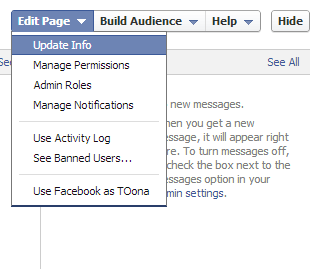 update info facebook